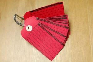 Czerwona etykieta 5S