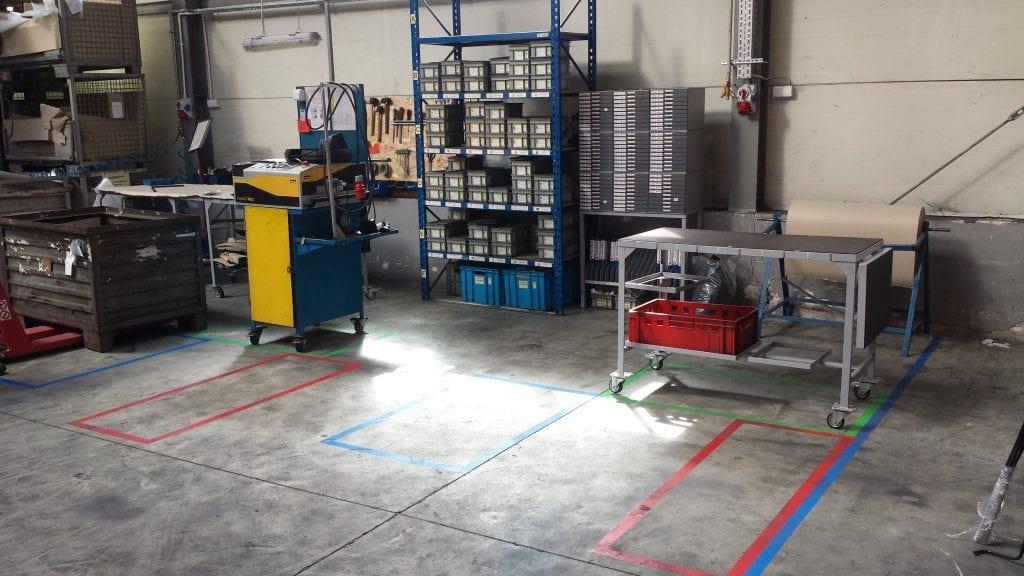 Organizacja montażu i pakowania - wygląd obrzaru