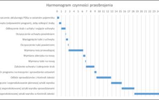 Wykres gantta - harmonogram czynności