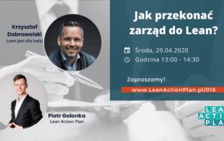Jak przekonać zarząd do lean? - Krzysztof Dobrowolski