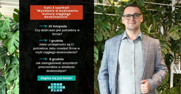 Cykl webinarów - jak zbudować świadomość lean w firmie - rola kierownictwa w tworzeniu kultury